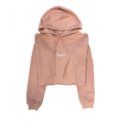 Definition Crop Hoodie : Peach