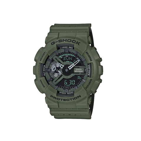 "GA110 ""Punching Pattern"" Series Watch : Olive"
