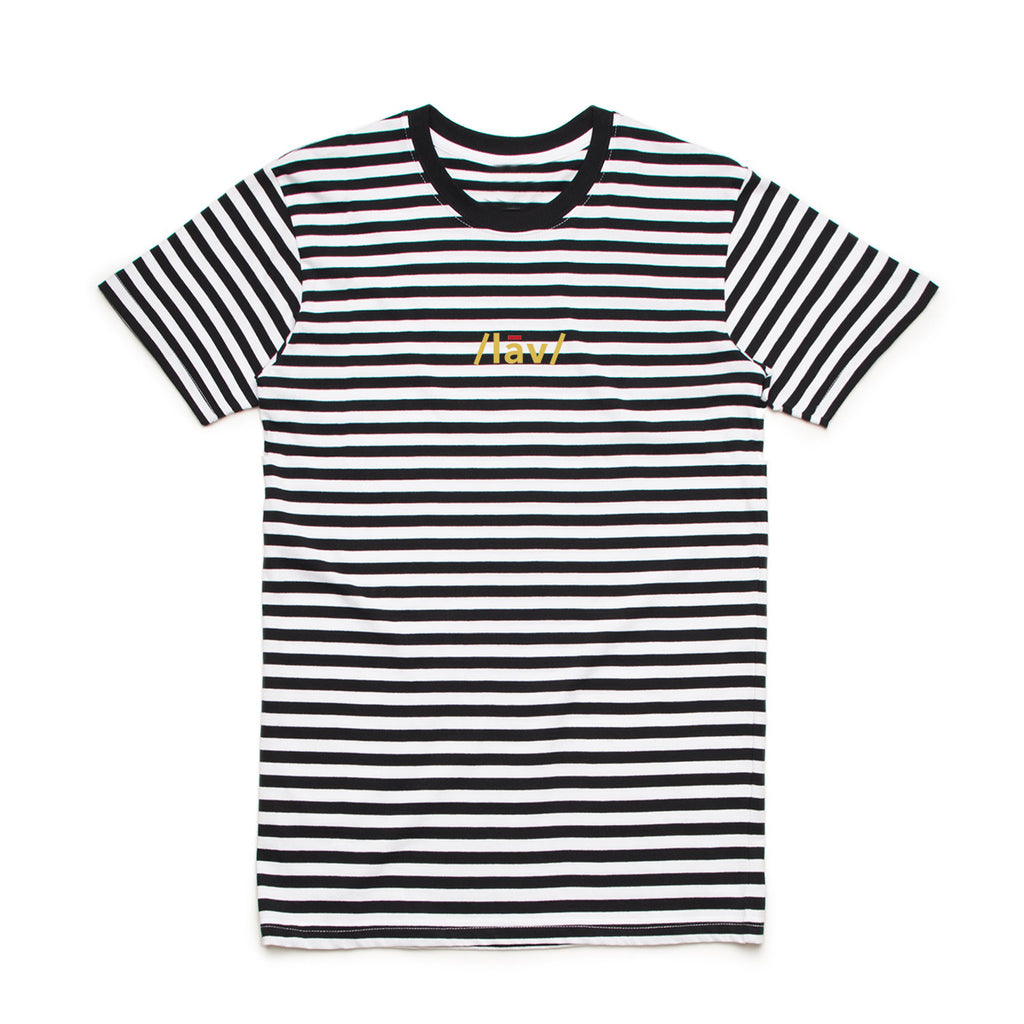 Definition Stripes Tee : Black