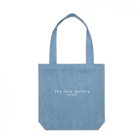 Location Tote Bag : Denim/White