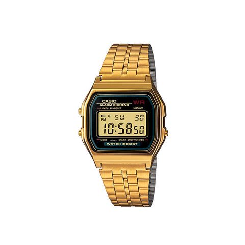 Casio Vintage A159 Watch : Gold/Black