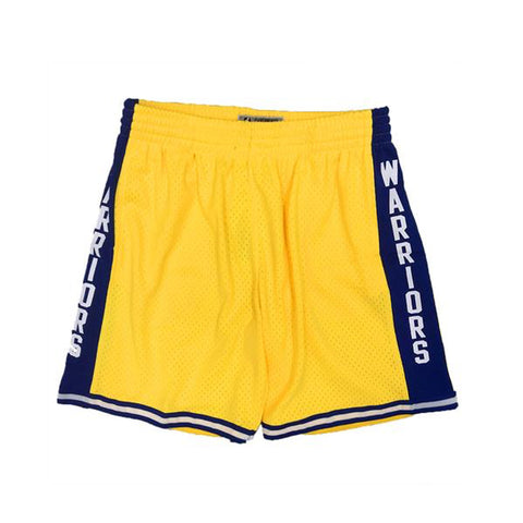 NBA Swingman Shorts : Warriors (Yellow)