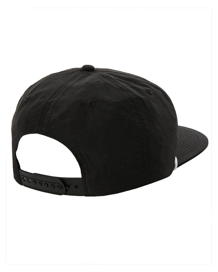 Flat Peak Nylon Snap Back (Black)