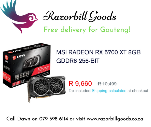 Great graphics at a reasonable price with the MSI RADEON RX 5700 XT 8GB GDDR6 256-BIT Graphics Card