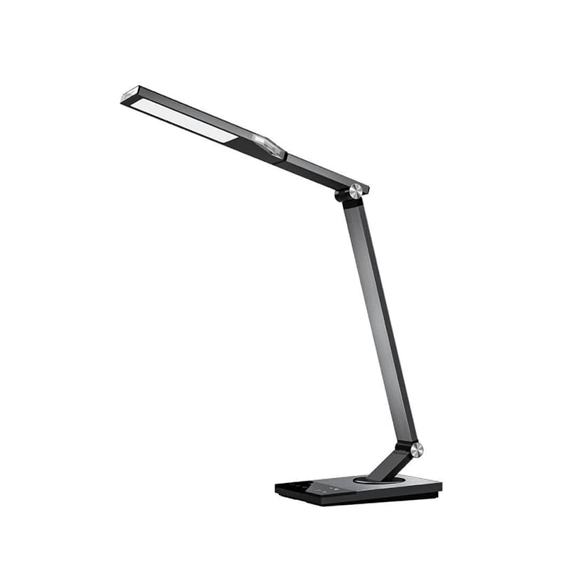 Taotronics LED 1200 Lumen Desk Lamp with USB 5V/2A Charging Port|60 min Timer|Night Light|Touch Dimmer - Silver