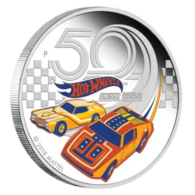 50 Years of Hot Wheels 2018 1oz Silver Proof