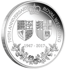 70th Anniversary of the Royal Wedding 2017 1oz Silver Proof