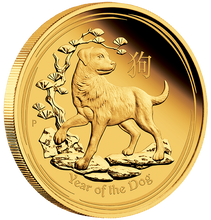 2018 Year of the Dog 1oz Gold Coin