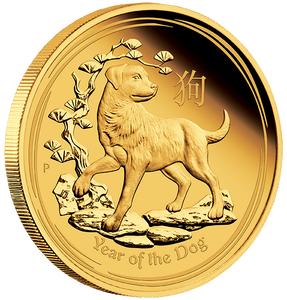 2018 Year of the Dog 3-Coin Gold Set