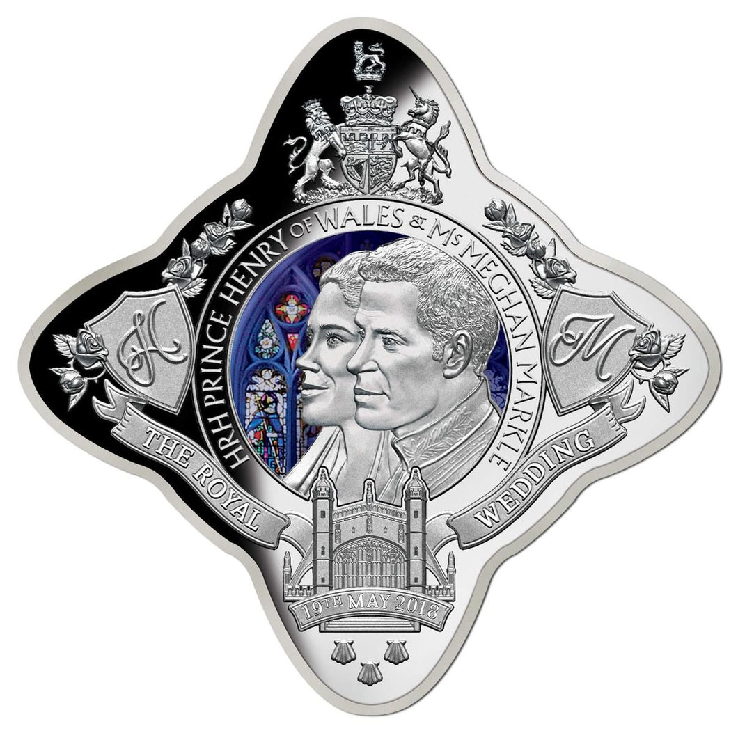2018 $1 Royal Wedding Royal Star 1oz Silver Proof