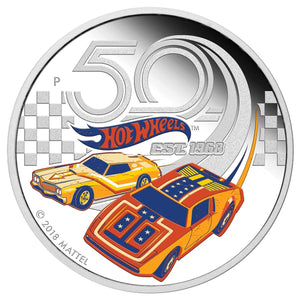 2018 $1 50 Years of Hot Wheels 1oz Silver Proof