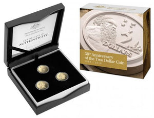 2018 $2 30th Anniversary of the $2 Coin Al-Br Proof Trio