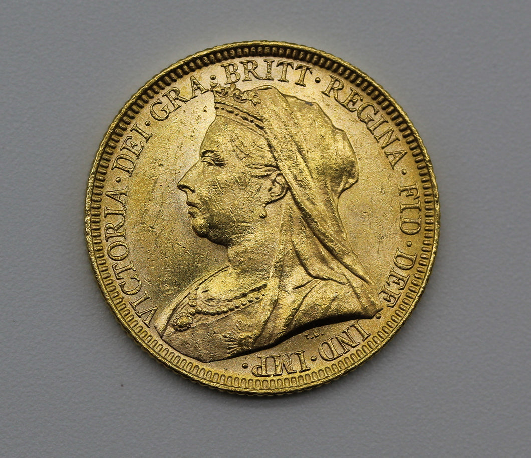 1894 Melbourne Veiled Head - UNC