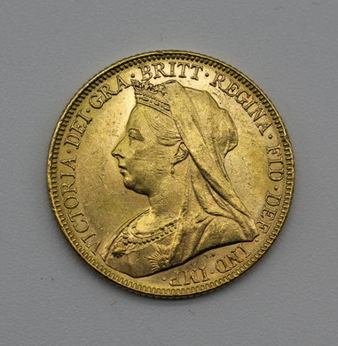 1899 Melbourne Veiled Head - UNC