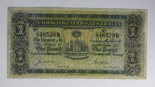 1913 One Pound Note - Very Good - Collins/Allen