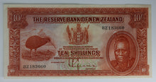 1934 New Zealand 10 Shilling Note