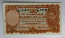 1942 Ten Shilling Note - Armitage/McFarlane