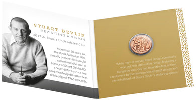2017 2c Bronze Uncirculated Coin - Stuart Devlin