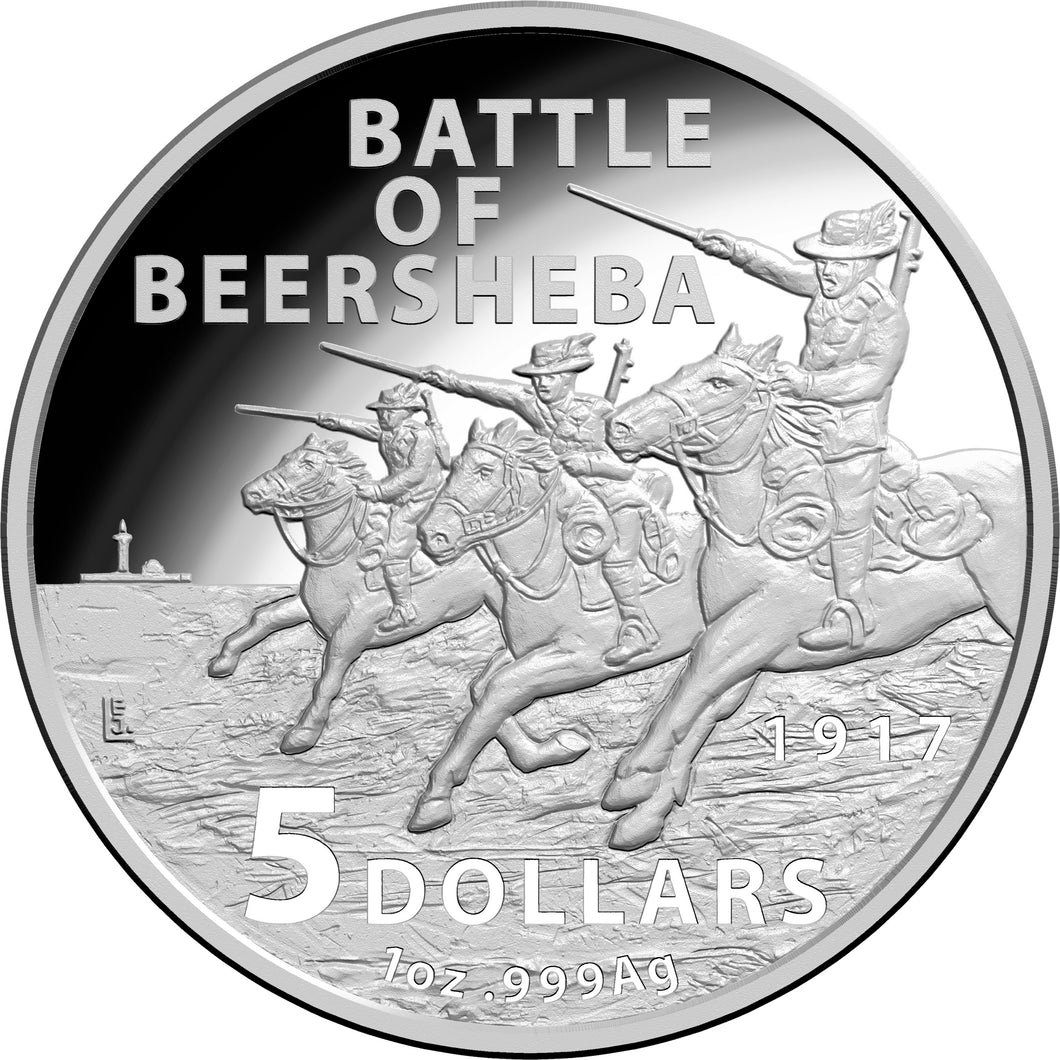 2017 $1 1oz Silver Proof Coin - Century of the Battle of Beersheba
