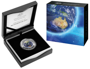 2018 $5 1oz Coloured Proof Coin - The Earth and Beyond Series - Earth