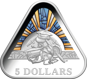 2018 $5 Triangular Proof - Tri Services Army Navy Air Force