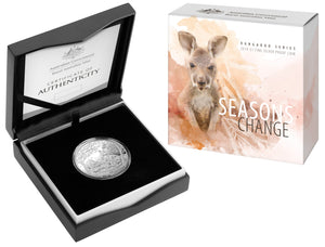 2019 $1 Fine Silver Proof Coin - Kangaroo Series - Seasons Change