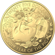 2019 $25 Gold Proof Lunar Calendar Year of the Pig