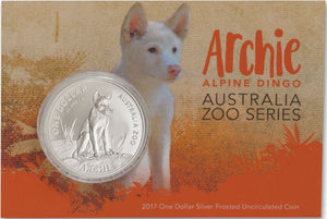 2017 Archie the Alpine Dingo 1oz Silver Frosted Uncircualted