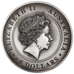 Australian Koala 2018 2 Kilo Silver High Relief Antiqued Coin