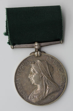 Queen Victoria Colonial Auxiliary Long Service Silver Medal