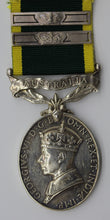King George VI Efficiency Silver Medal with Two Crown Clasps