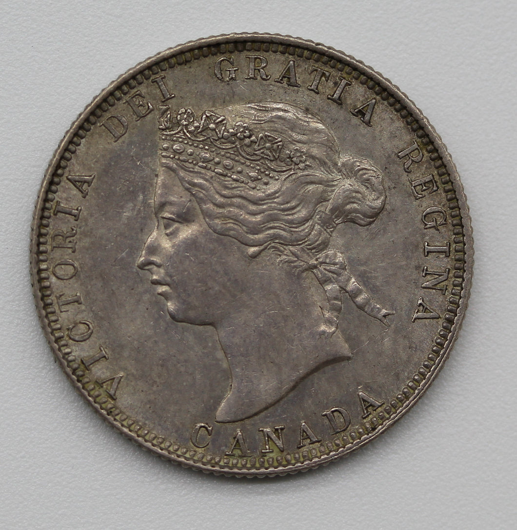 1881H Canada Twenty Five Cents - aUNC