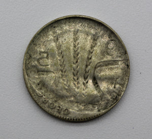 1950 Threepence Brockage - gVF