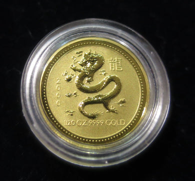 2000 1/20 oz Gold Coin Australian Lunar Series I - Dragon