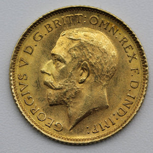 1916 Sydney George V Half Sovereign - UNC