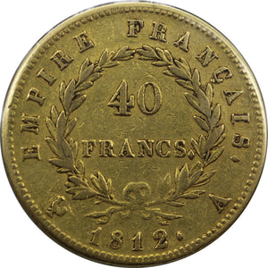France 1812A 40 Francs Napoleon - VF