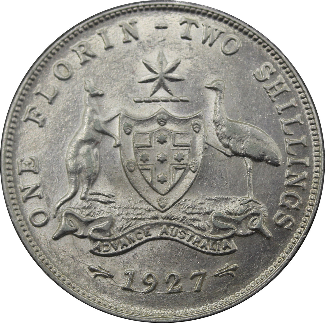 1927 Coat of Arms Florin - gVF