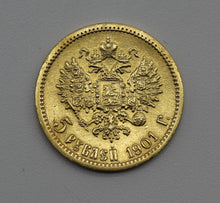 1901 Russia Five Roubles