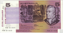 1985 $5 R209B Johnston/Fraser Gothic Pair UNC