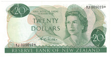 New Zealand 1968-75 $20 D.L.Wilks Star Note - UNC