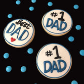 #1 DAD/Best DAD Fathers Day Vanilla Biscuit