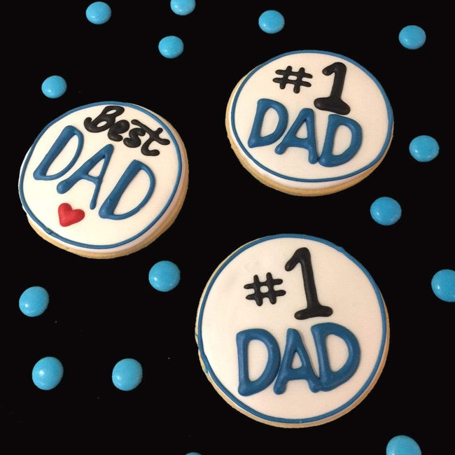 Cake Creations by Kate™ Biscuits #1 DAD/Best DAD Fathers Day Vanilla Biscuit