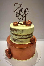 Cake Creations by Kate™ SpecialityCakes 2-Tier Bronze and White Semi-Naked Speciality Cake