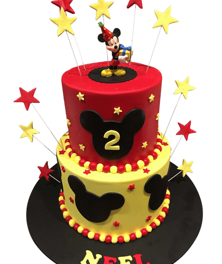2-Tier Cartoon Mouse Fondant Speciality Cake