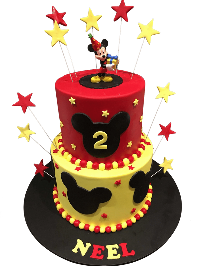 Cake Creations by Kate™ SpecialityCakes 2-Tier Cartoon Mouse Fondant Speciality Cake