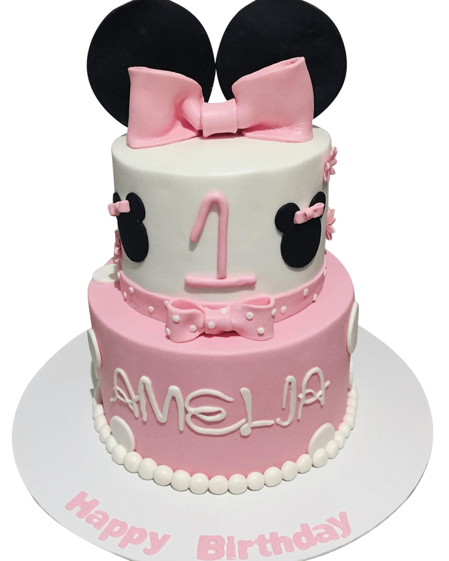 Cake Creations by Kate™ SpecialityCakes 2-Tier Pretty Pink Bow Fondant Speciality Cake