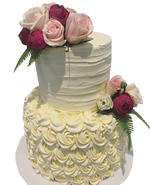 Cake Creations by Kate™ CustomCakes 2-tier Rosette and Textured Buttercream Custom Cake