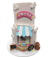 2-Tier Smoothie Stand Pale Pink Fondant Speciality Cake