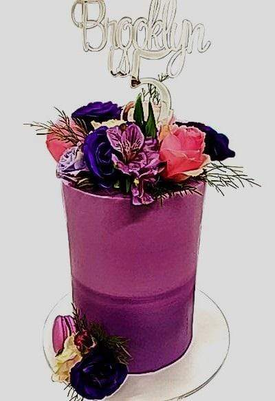 Cake Creations by Kate™ SpecialityCakes 2-Toned Ombre Floral Double-Height Speciality Cake