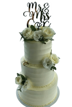 Cake Creations by Kate™ CustomCakes 3-tier Mr & Mrs Smooth Spatula Buttercream Floral Custom Cake